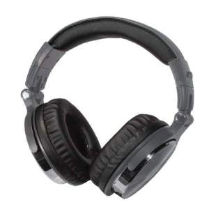 Premium Bluetooth(R) Over-the-Ear Headphones with Microphone (Gray) - Personal Electronics