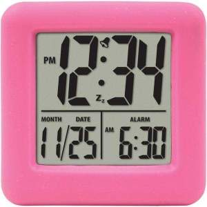 Soft Cube LCD Alarm Clock (Pink) - Personal Electronics