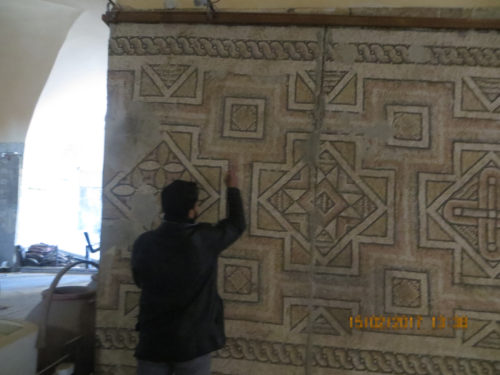 Syria: A Roman mosaic is protected with SmartWater®