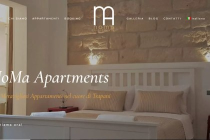 On Line il sito Noma Apartments