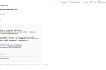 Lo spiacevole fenomeno del Phishing