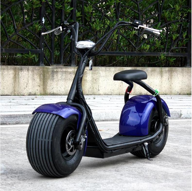 Moto Electrica Harley Azul - Smart Wheels