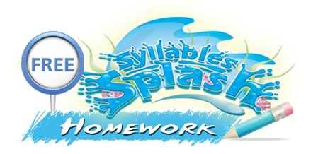 sylable splash homework