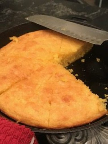 Cornbread in Cast Iron skillet