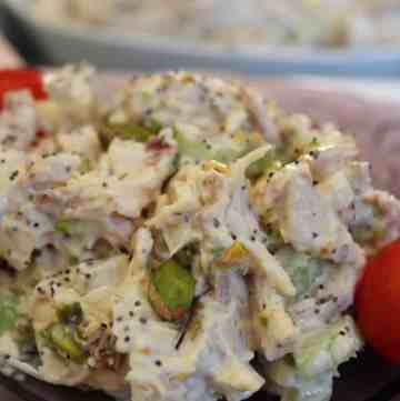 Pistachio Poppy seed Chicken Salad