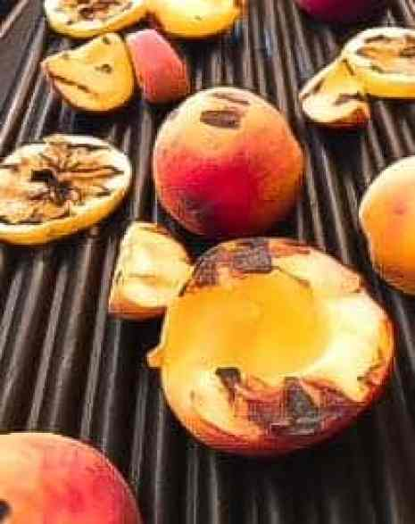 Grilled Peaches with Raspberry Balsamic Glaze