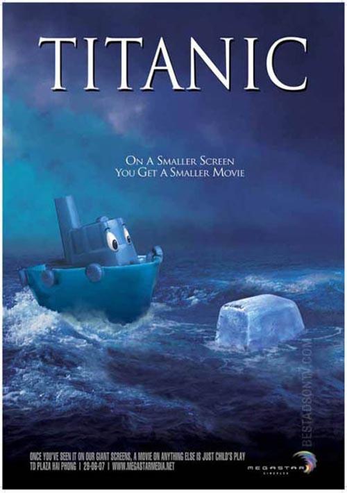 titanic on smaller screen