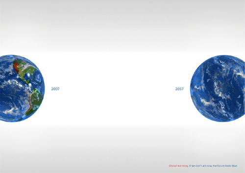 Global warming awareness: Earth