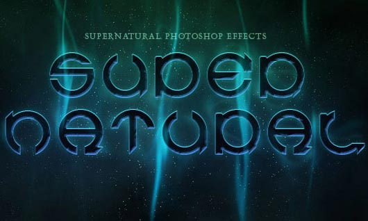 Supernatural Text Effect