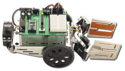 Boe-Bot robot with gripper