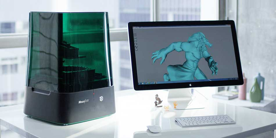 MoonRay Desktop DLP 3D Printer