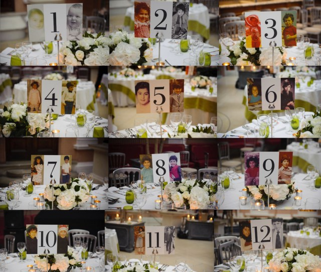 Use Pictures Of The Bride And Groom At Ages Corresponding With The Table Numbers