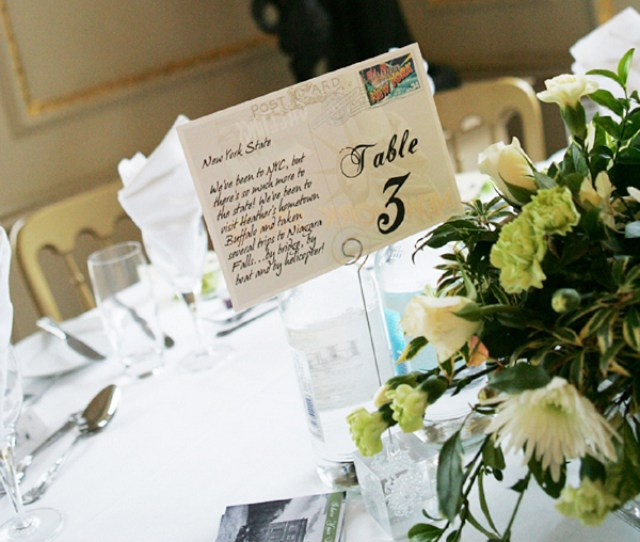 Postcards As Table Numbers