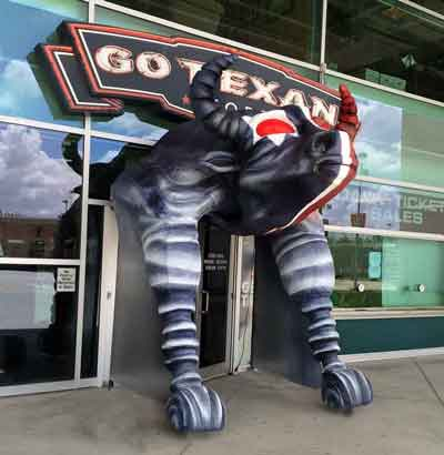 Houston Texans Bull Sculpture