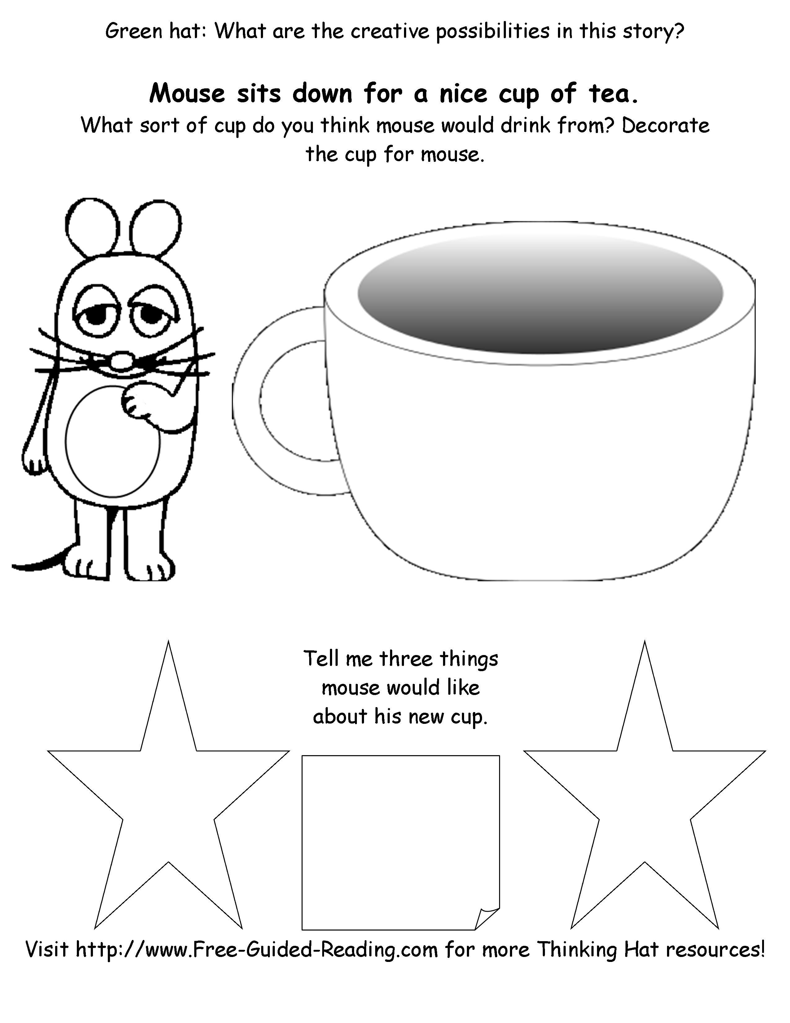 Smashwords 16 Thinking Hat Worksheets For The Gruffalo