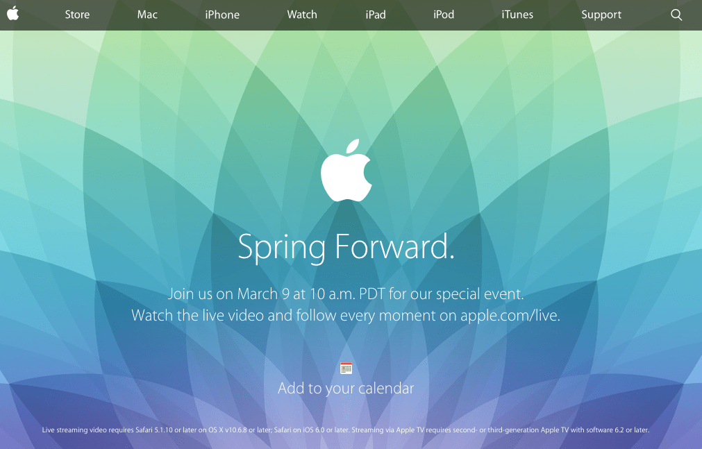 Apple Special Event 20150309 PDT