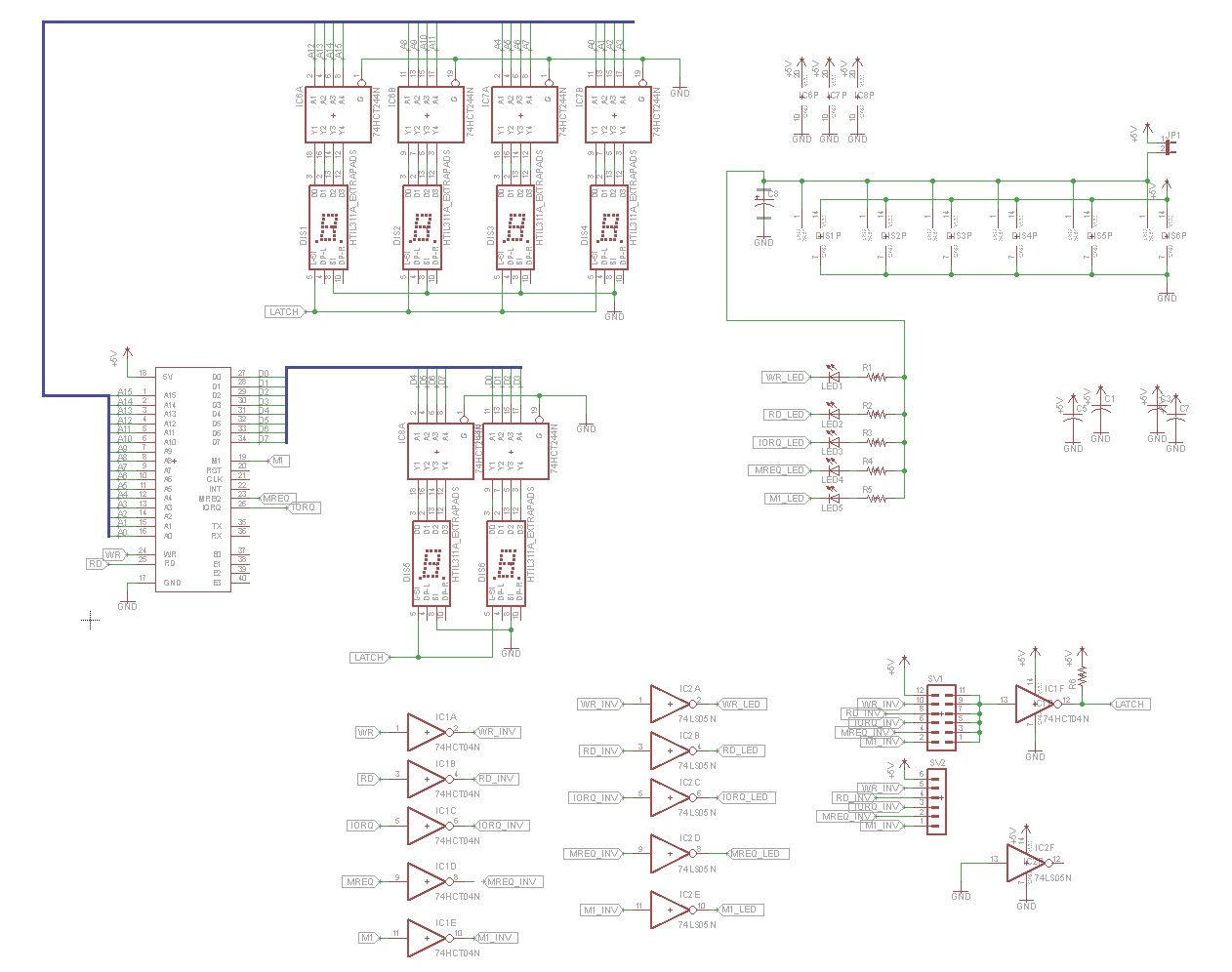 Z80 Retrocomputing 3 Bus Monitor Board