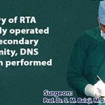History of RTA operated elsewhere with secondary deformity, DNS correction performed