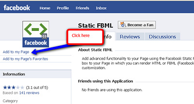 setting up a custom landing page for Facebook fan pages