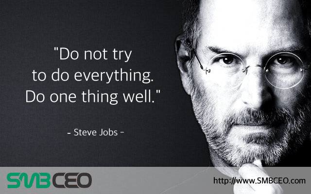 Steve Jobs quote on doing one thing well