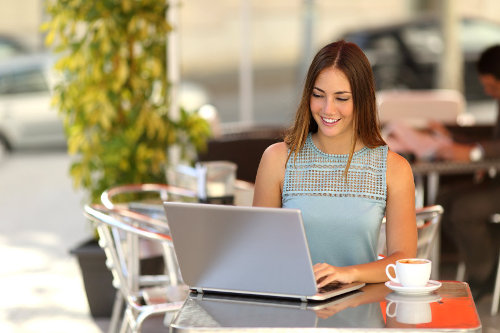 Learning businesswoman
