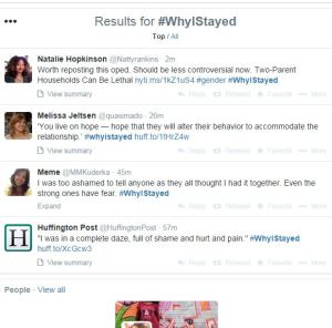 Results for #WhyIStayed