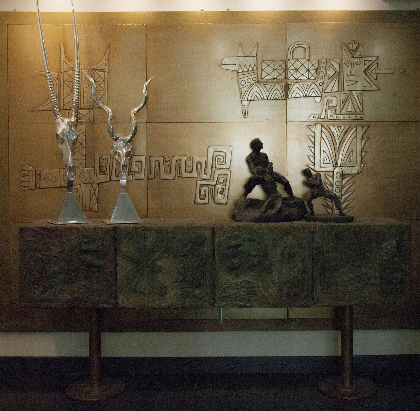 Emanuele Luzzati, Panel metal, SMC Gallery, Paris.