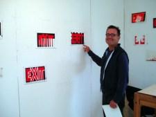 Artist Bob Seng in Studio