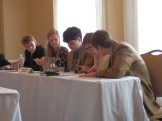 Students confer at Nationals