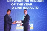MR. SANJIB MOHAPATRA IS GIVING AWAY THE AWARD OF BEST NETWORKING VENDOR OF THE YEAR AWARD TO D-LINK INDIA