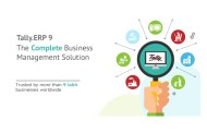 Tally Solutions is now a qualified GSP