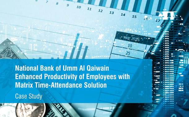 NationalBank of Umm Al Qaiwain Enhanced Productivity of Employees with MatrixTime-Attendance Solution