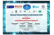 Matrix Wins 'National Telecom Make in India Awards 2020' by CMAI Association of India
