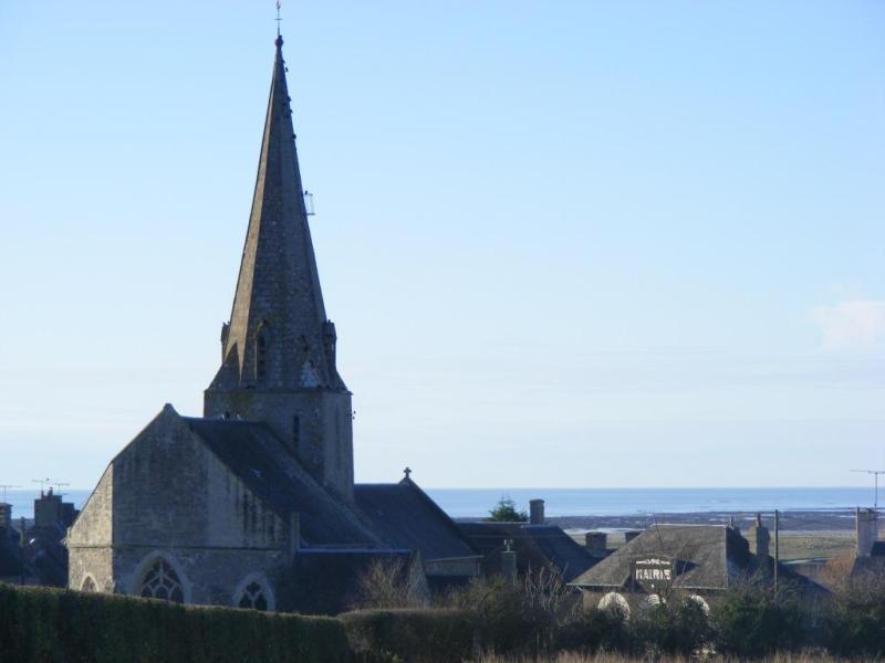 Blainville sur Mer : l'église et l'ancienne mairie