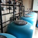 Filtration de l'eau de mer au centre expérimental
