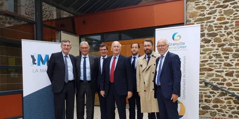 Membres du M9 réunis à Granville le 16 octobre 2018 (@Ouest France – DR)