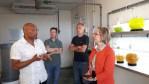 Visite du centre technique du SMEL par Madame la sous-préfète de Coutances