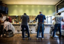 barbers at work