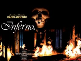 "Quad art for Fox's ""blink-and-you'll-miss-it"" UK cinema release for Argento's Inferno (1980); the Italian key art, by Enzo Sciotti, is pictured left."