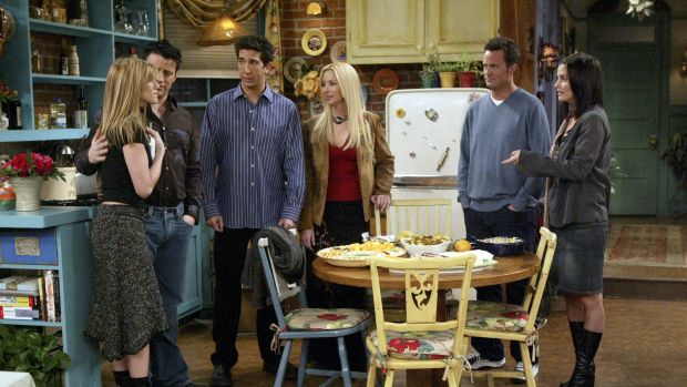 The cast of NBC sitcom Friends in action during the final episode in May 2004. Could the next series of the show be generated by artificial intelligence?