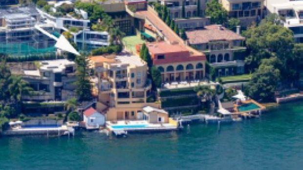 Frank Lowy's Point Piper home was extended in the early 1990s after they bought their son Stephen Lowy's house next door.