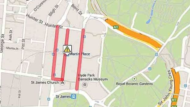 Exclusion Zone around Martin Place