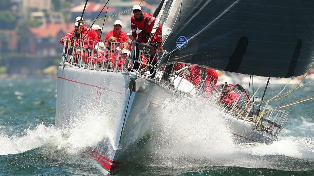 Triumphant: Wild Oats XI won the line honours title for a record eighth time.