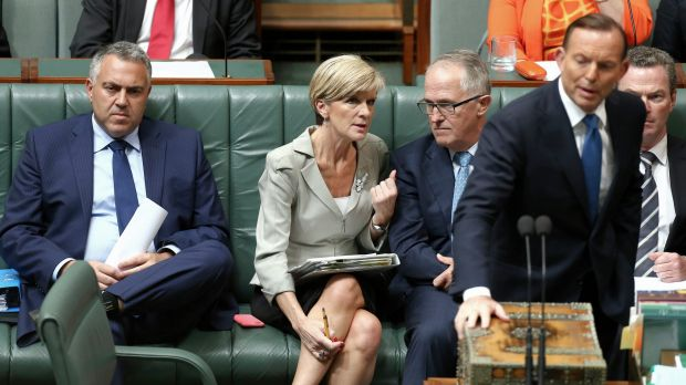 """In the running: Julie Bishop and Malcolm Turnbull are both being """"actively considered"""" as replacements."""