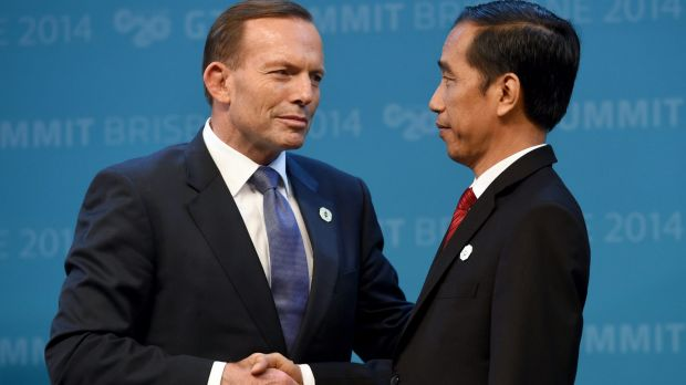 Australian Prime Minister Tony Abbott and Indonesian President Joko Widodo