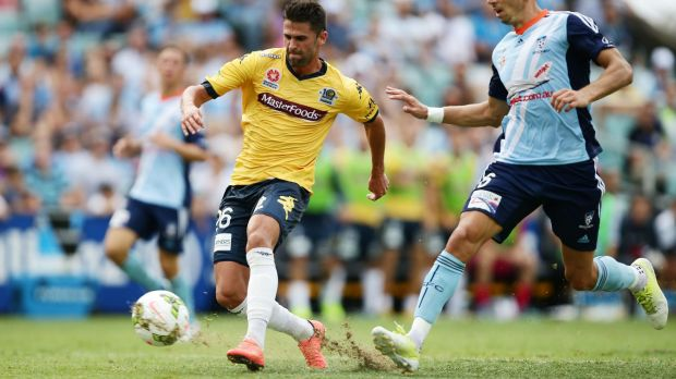 Too easy: Fabio Ferreira scores after beating a porous Sydney FC defence.