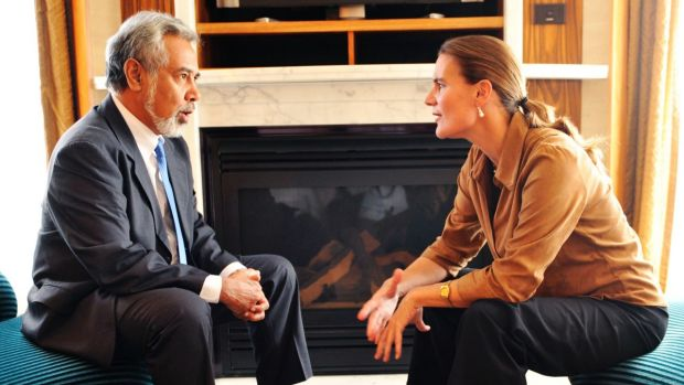 President of East Timor Xanana Gusmao and his wife Kirsty Sword Gusmao on an official visit to Australia in 2008.