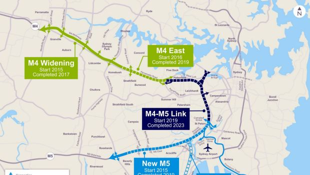 The Westconnex project will be built in three stages.