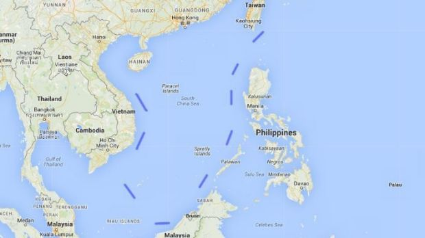 The Nine Dash Line. By asserting its control over the Spratly Islands Beijing is able to re-enforce the eastern edge of ...