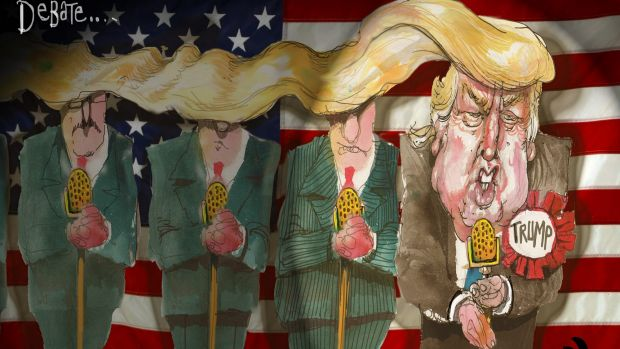 Image result for david rowe trump cartoon